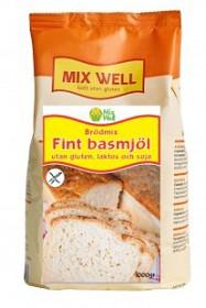 Bild på MixWell Brödmix Fint basmjöl utan gluten, laktos och soja 1000 g