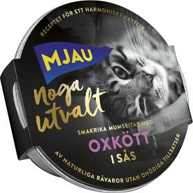 Bild på Mjau Noga Utvalt Oxkött i Sås 85 g