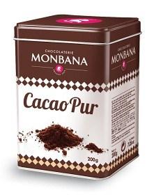 Bild på Monbana Chocolaterie Cacao Pur Kakaopulver i Metallbox 200 g