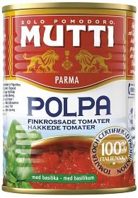Bild på Mutti Krossade Tomater Basilika 400 g