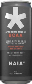 Bild på Naia Sparkling Energy BCAA Red Orange 33 cl inkl. pant