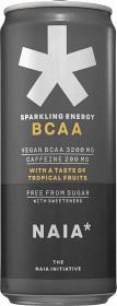 Bild på Naia Sparkling Energy BCAA Tropical Fruit 33 cl inkl. pant