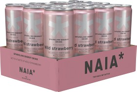 Bild på Naia Sparkling Energy Drink Wild Strawberry 12x33 cl inkl. pant