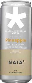 Bild på Naia Sparkling Ginseng Water Pineapple 33 cl inkl. pant