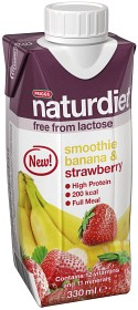 Bild på Naturdiet Laktosfri Smoothie Banana & Strawberry 330 ml