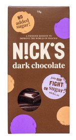 Bild på Nicks Dark Chocolate 75 g