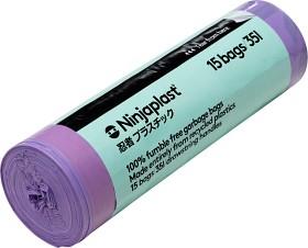 Bild på Ninjaplast Avfallspåsar av återvunnen plast 35 L 15-pack