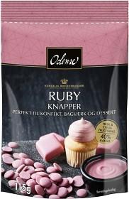 Bild på Odense Chokladknappar Ruby 115 g