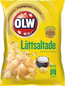 Bild på OLW Lättsaltade Chips 40 g