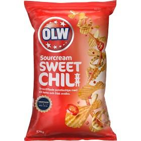 Bild på OLW Chips Sourcream & Sweet Chili 275g