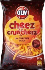 Bild på OLW Flamin Hot Cheez Cruncherz 225 g