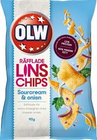 Bild på OLW Linschips Sourcream & Onion 90 g