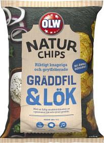 Bild på OLW Naturchips Gräddfil & Lök 150 g