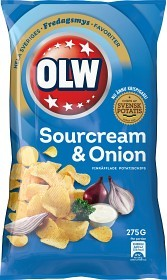 Bild på OLW Sourcream & Onion 275 g