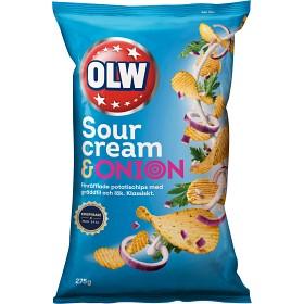 Bild på OLW Chips Sourcream & Onion 275g