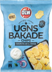 Bild på OLW Ugnsbakade Chips Sourcream & Onion 150 g