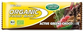 Bild på Organic Food Bar Active Greens Chocolate 70 g