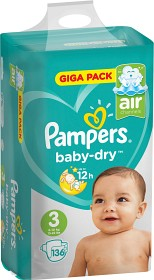 Bild på Pampers Baby-Dry S3 6-10 kg 136 st