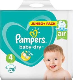 Bild på Pampers Baby-Dry S4 9-14kg 78 st