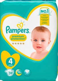 Bild på Pampers Premium Protection S4 9-14kg 39 st
