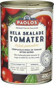 Bild på Paolos Hela Skalade Tomater 400 g