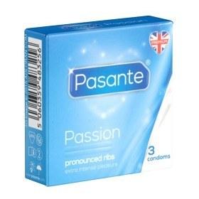 Bild på Pasante kondom Passion Ribbed 3-pack