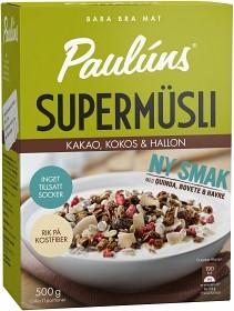Bild på Pauluns Supermüsli Kakao, Kokos & Hallon 500 g