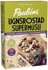 Bild på Paulúns Ugnsrostad Supermüsli Björnbär, Kardemumma & Macadamianötter 450 g