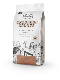 Bild på Paulig This Cup Counts Brazilian Blend Hela Bönor 1 kg