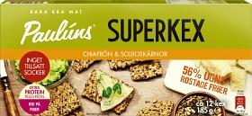 Bild på Pauluns Superkex Chiafrön & Solrosfrön 185 g