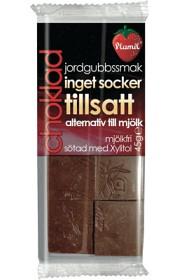 Bild på Plamil Choklad Jordgubbssmak mjölk- och sockerfri 45 g
