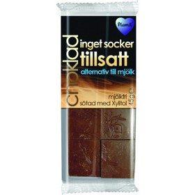 Bild på Plamil Ljus choklad mjölk- och sockerfri 45 g