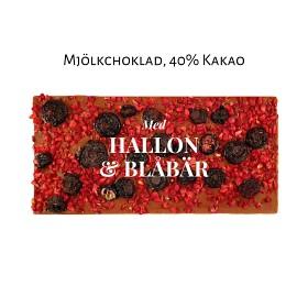 Bild på Pralinhuset 40% Mjölkchoklad Hallon & Blåbär 100 g