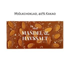 Bild på Pralinhuset 40% Mjölkchoklad Mandel & Havssalt 100 g