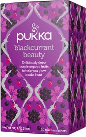 Bild på Pukka Blackcurrant Beauty Tea 20 tepåsar
