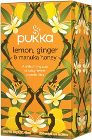 Bild på Pukka Lemon, Ginger & Manuka Honey 20 tepåsar