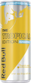 Bild på Red Bull Tropical Edition Sockerfri 25 cl inkl. Pant