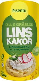 Bild på Risenta Linskakor Dill & Gräslök 122 g