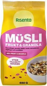 Bild på Risenta Müsli Frukt & Granola 650 g