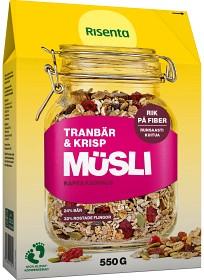 Bild på Risenta Müsli Tranbär & Krisp 550 g