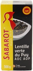Bild på Sabarot Linser Gröna du Puy 500 g