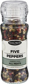 Bild på Santa Maria Five Peppers 60g
