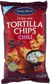Bild på Santa Maria Tortilla Chips Chili 185 g