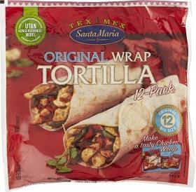 Bild på Santa Maria Original Wrap Tortilla 742 g