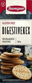 Bild på Semper Digestivekex Glutenfria 160 g