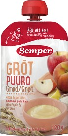 Bild på Semper Ätklar Gröt med Äpple & Persika 6M 120 g