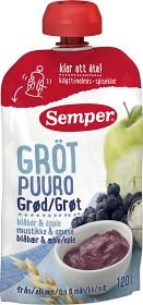 Bild på Semper Ätklar Gröt med Blåbär & Äpple 6M 120 g