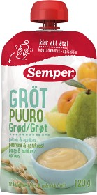 Bild på Semper Ätklar Gröt med Päron & Aprikos 6M 120 g