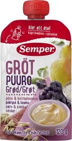 Bild på Semper Ätklar Gröt med Päron & Katrinplommon 6M 120 g