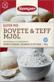 Bild på Semper Bovete & Teff Mjöl 500 g